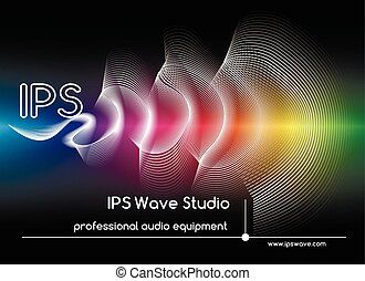 Abstract sound waves background. Colored wave form poster vector illustration