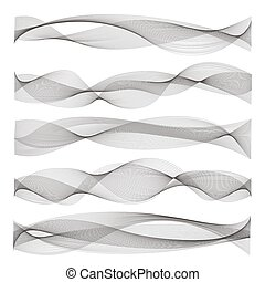 Abstract sound waves - Vector abstract sound waves....