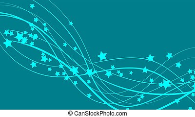 Abstract space background with blue lines and stars. Beautiful stars on a blue bright colored background. Vector illustration
