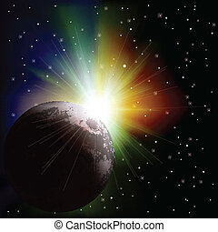 abstract space background with stars - abstract space...