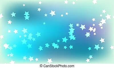 Abstract space background with stars. Multicolored stars on a bright blue colored background. Vector illustration