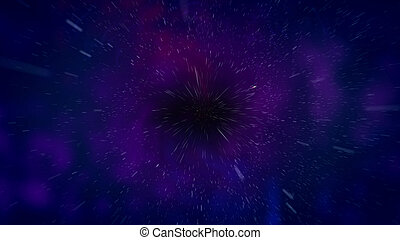 Abstract space black hole illustration