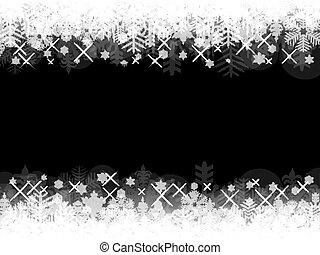 abstract, space., zwarte achtergrond, kopie, kerstmis