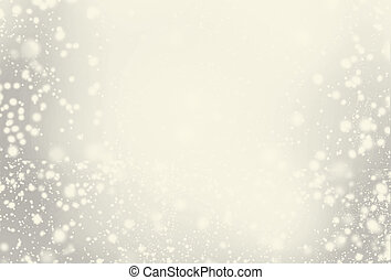 Abstract Sparkling Merry Christmas toned card with white and...