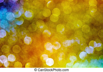 Abstract sparkling multi-colour blur background