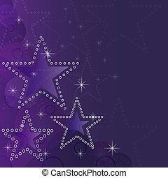 Abstract sparkling stars Christmas vector background.