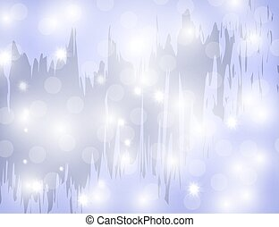 Abstract Sparkling Stars on Blue Holiday Background
