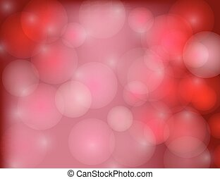 Abstract Sparkling Stars on Red Holiday Background.