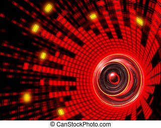 Abstract Speaker Sound - Equalizer of sound around abstract...