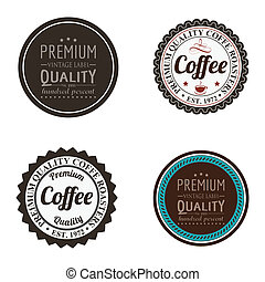 special labels - abstract special labels on a white ...