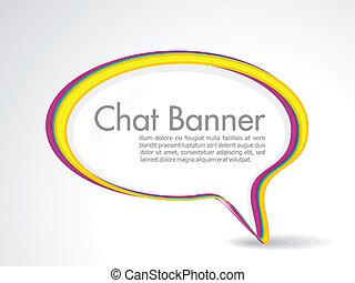 abstract speech banner vector