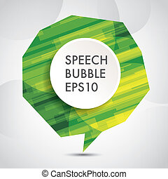 abstract Speech bubble background, eps10