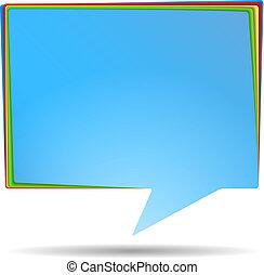 Abstract Speech Bubble Banner