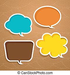 abstract speech bubble design