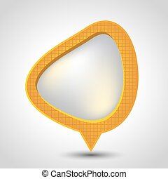 Abstract speech bubble vector background. Eps 10