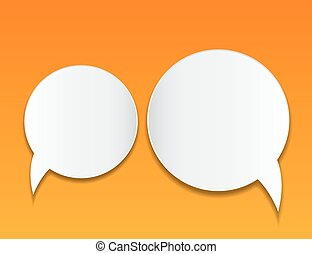 Abstract speech bubble vector background.