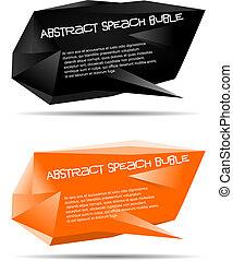 abstract speech bubble vector