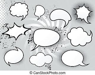 abstract speech bubbles