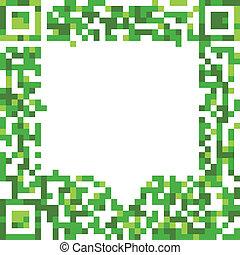 Abstract speech cloud of qr-code