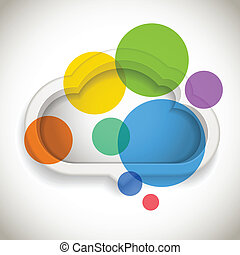Abstract speech cloud with color circles