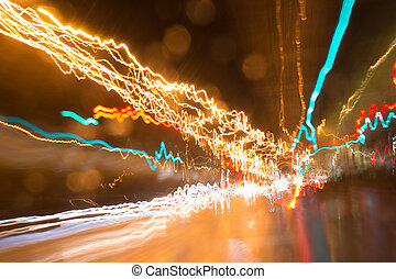 Light streaks - Abstract speed Light streaks
