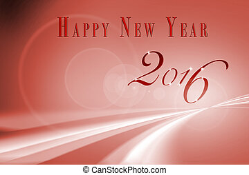 Abstract Speed motion in Red highway and creative new year 2016 design.