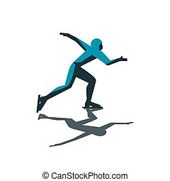 Abstract speed skater