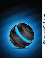 Abstract sphere - Abstract color background with dark 3d...
