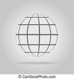 Abstract sphere in a strip