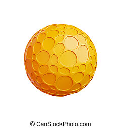 abstract sphere isolated on a white background, 3D rendering