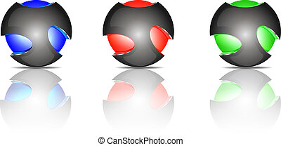 Abstract sphere logos