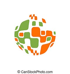 Abstract sphere molecules design. Vector illustration. Group of atoms for chemistry concept