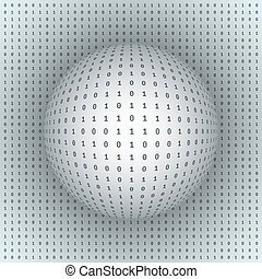 Abstract Sphere on Binary Background