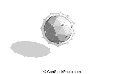 """Abstract Sphere Plexus Turning Around"" - ""Cyberspace 3d..."