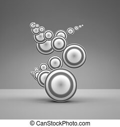 Abstract Spheres Composition.