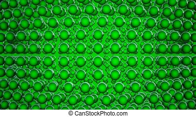 Abstract spheres in green