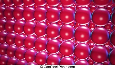 Abstract spheres in red color