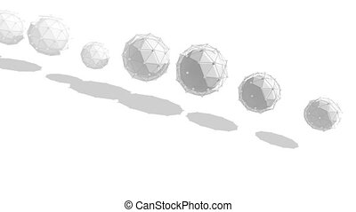"""""""Abstract Spheres Spinning and Shaping a Circle"""""""
