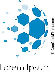 Abstract Spheric Soccer Ball Logo - Abstract vector spheric ...