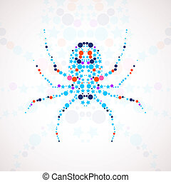 Abstract spider cartoon