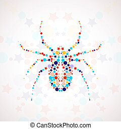Abstract spider cartoon