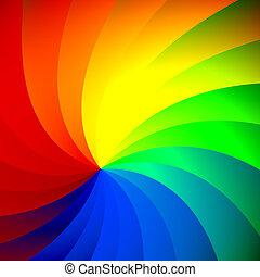 Abstract Spinning Rainbow