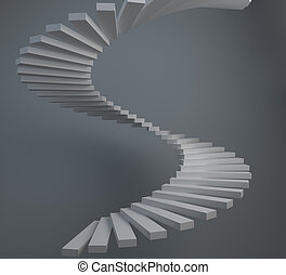 abstract, spiraal trappen