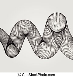 Abstract Spiral. 3d Vector Illustration.