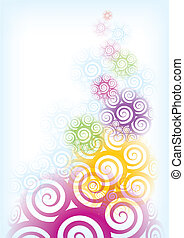 Abstract spiral background