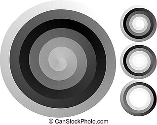 Abstract spiral background. Black and white halftone vector....
