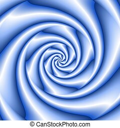 Abstract spiral background in blue