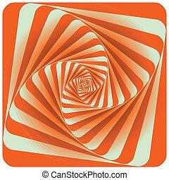 Abstract Spiral Background. Orange. Vector Illustration
