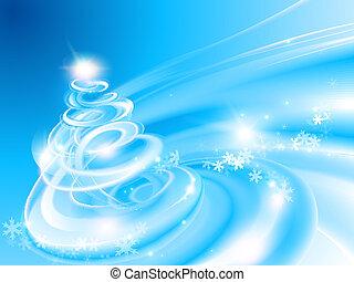 Abstract spiral Christmas tree