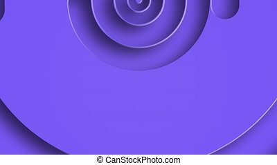 Abstract spiral circles with the effect of twisting and ...